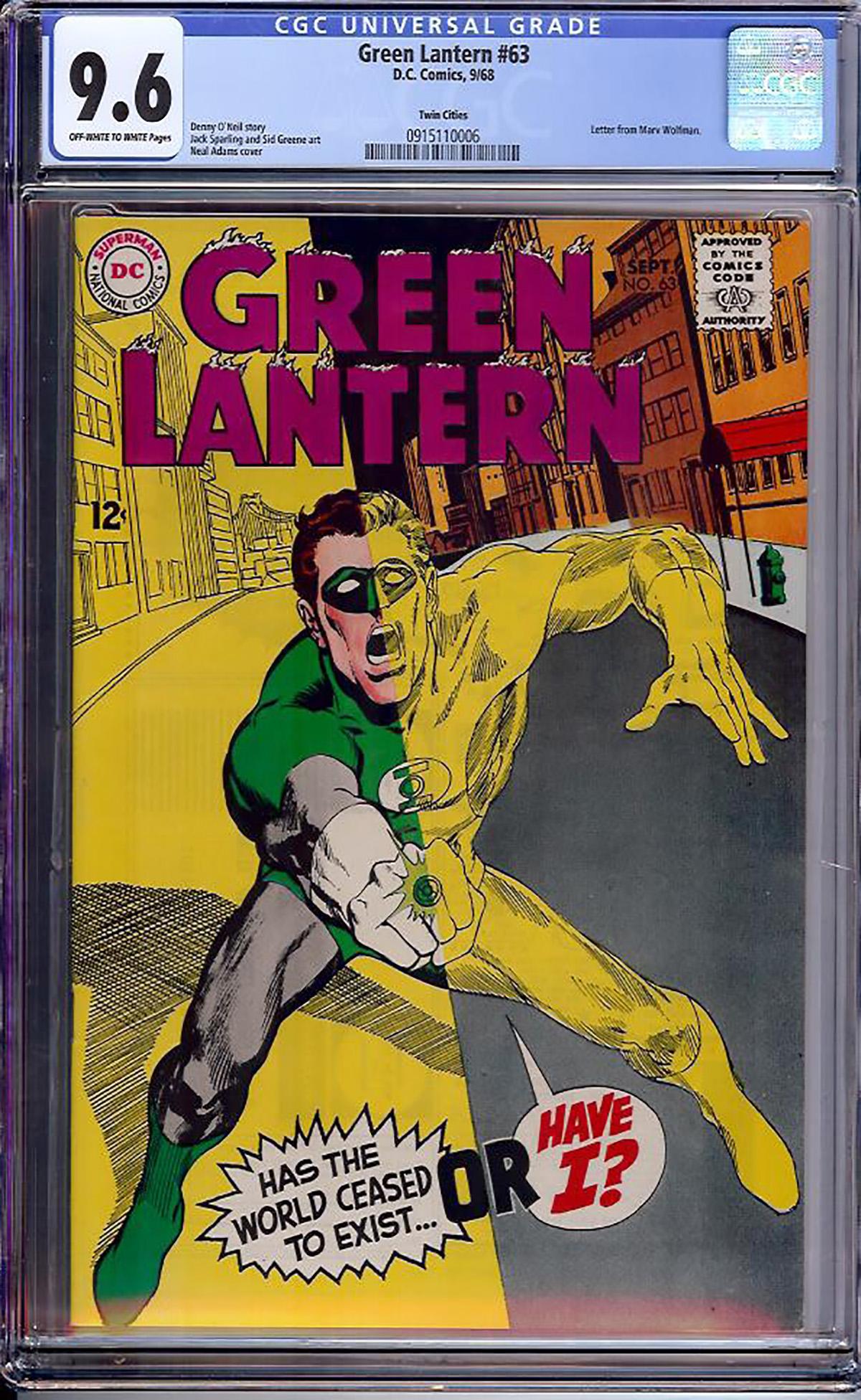 Green Lantern #63 CGC 9.6 ow/w Twin Cities