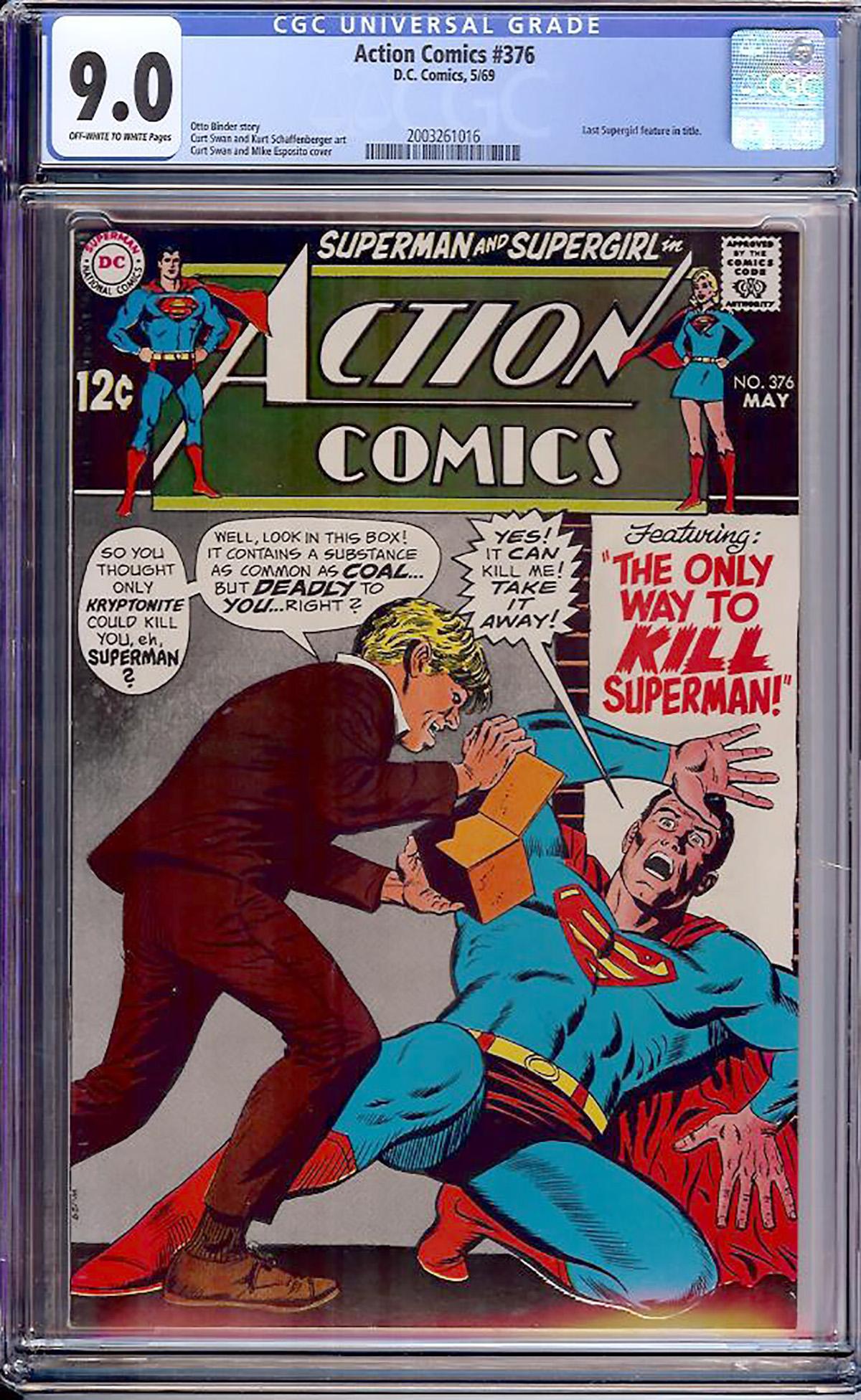 Action Comics #376 CGC 9.0 ow/w Bogota