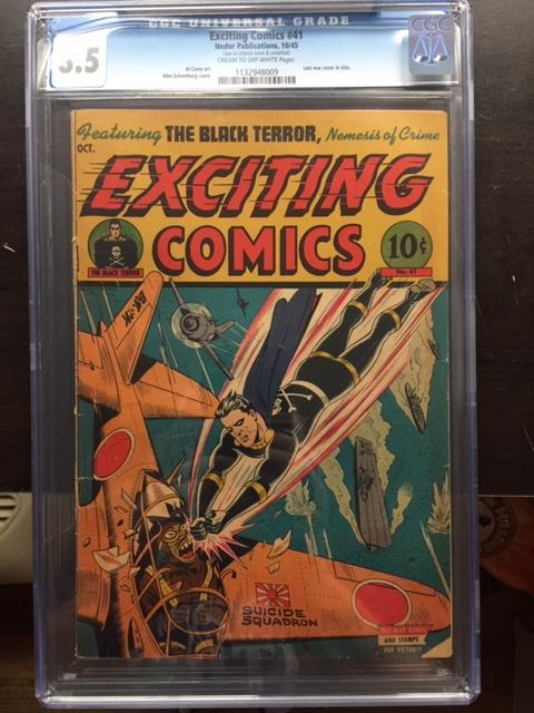 Exciting Comics #41 CGC 3.5 cr/ow