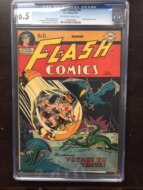 Flash Comics #81 CGC 6.5 ow/w