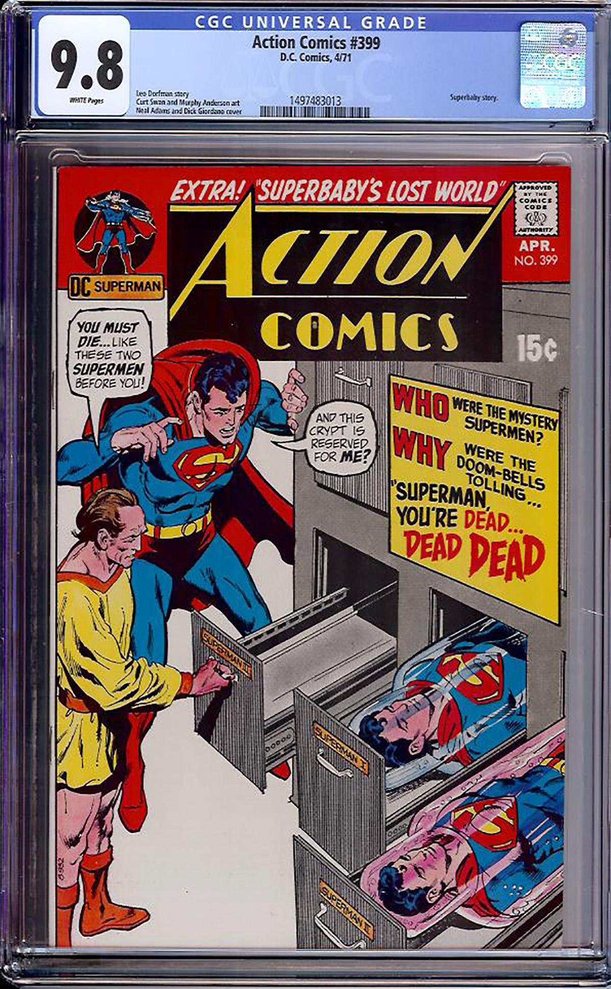 Action Comics #399 CGC 9.8 w