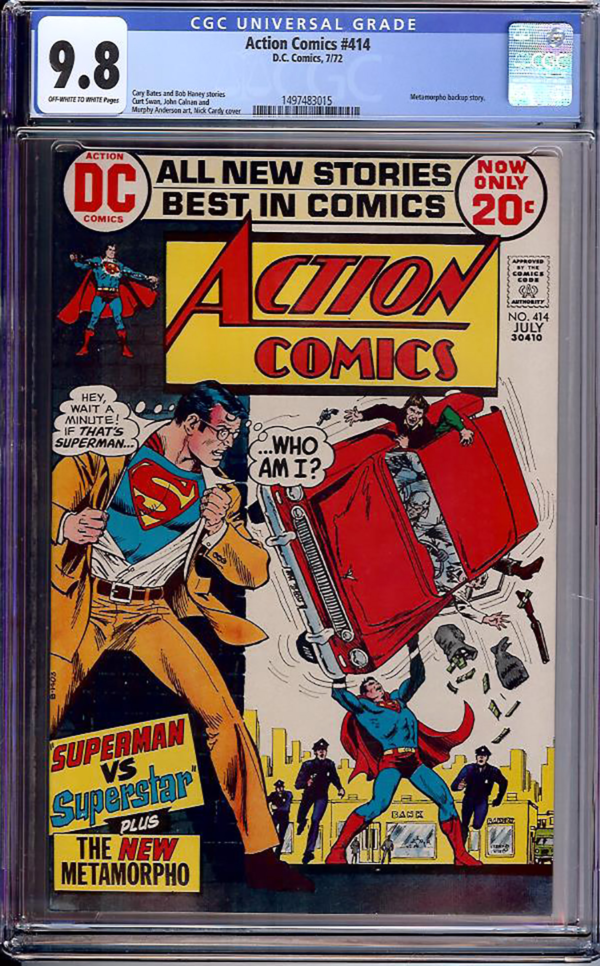 Action Comics #414 CGC 9.8 ow/w