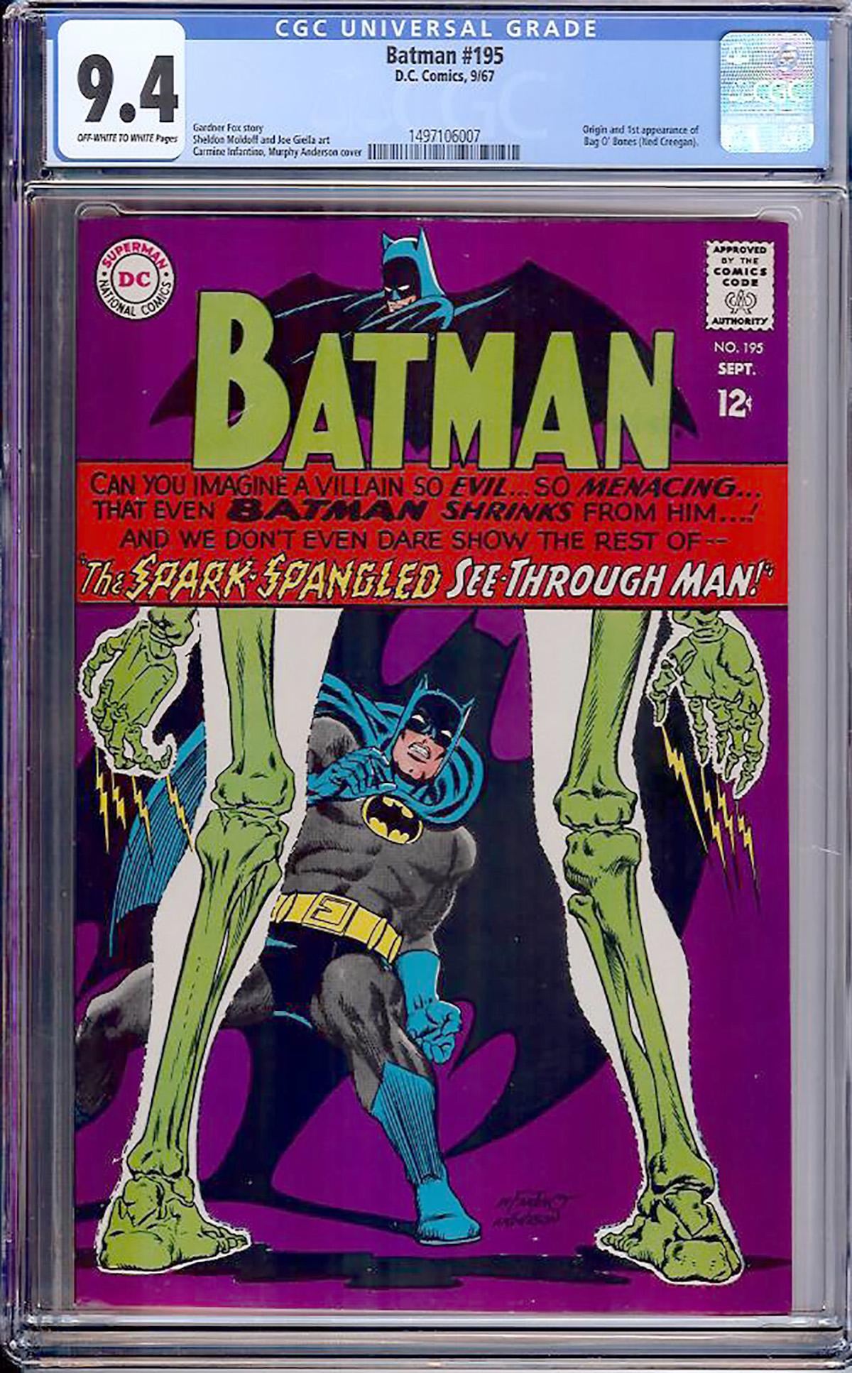 Batman #195 CGC 9.4 ow/w