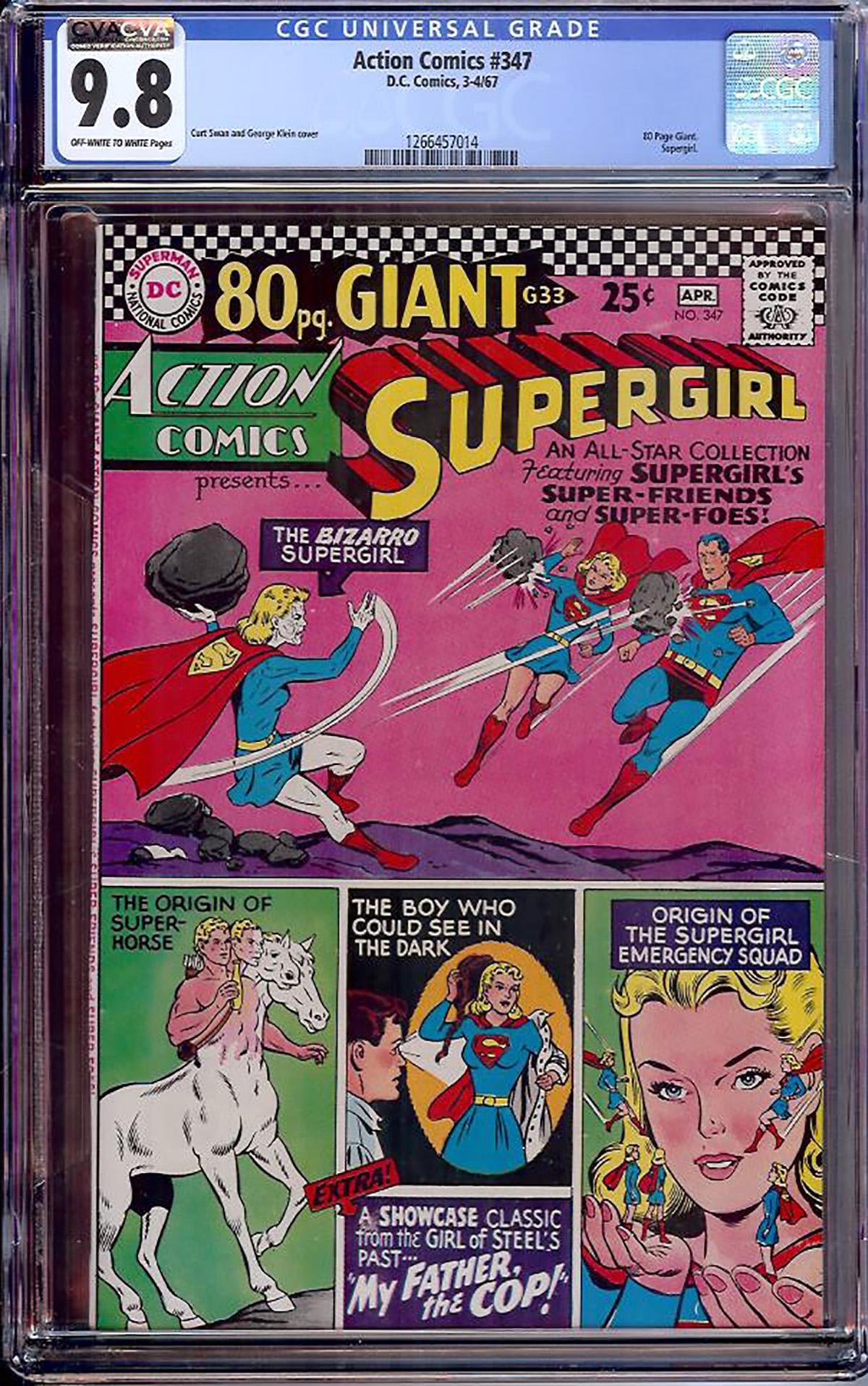 Action Comics #347 CGC 9.8 ow/w