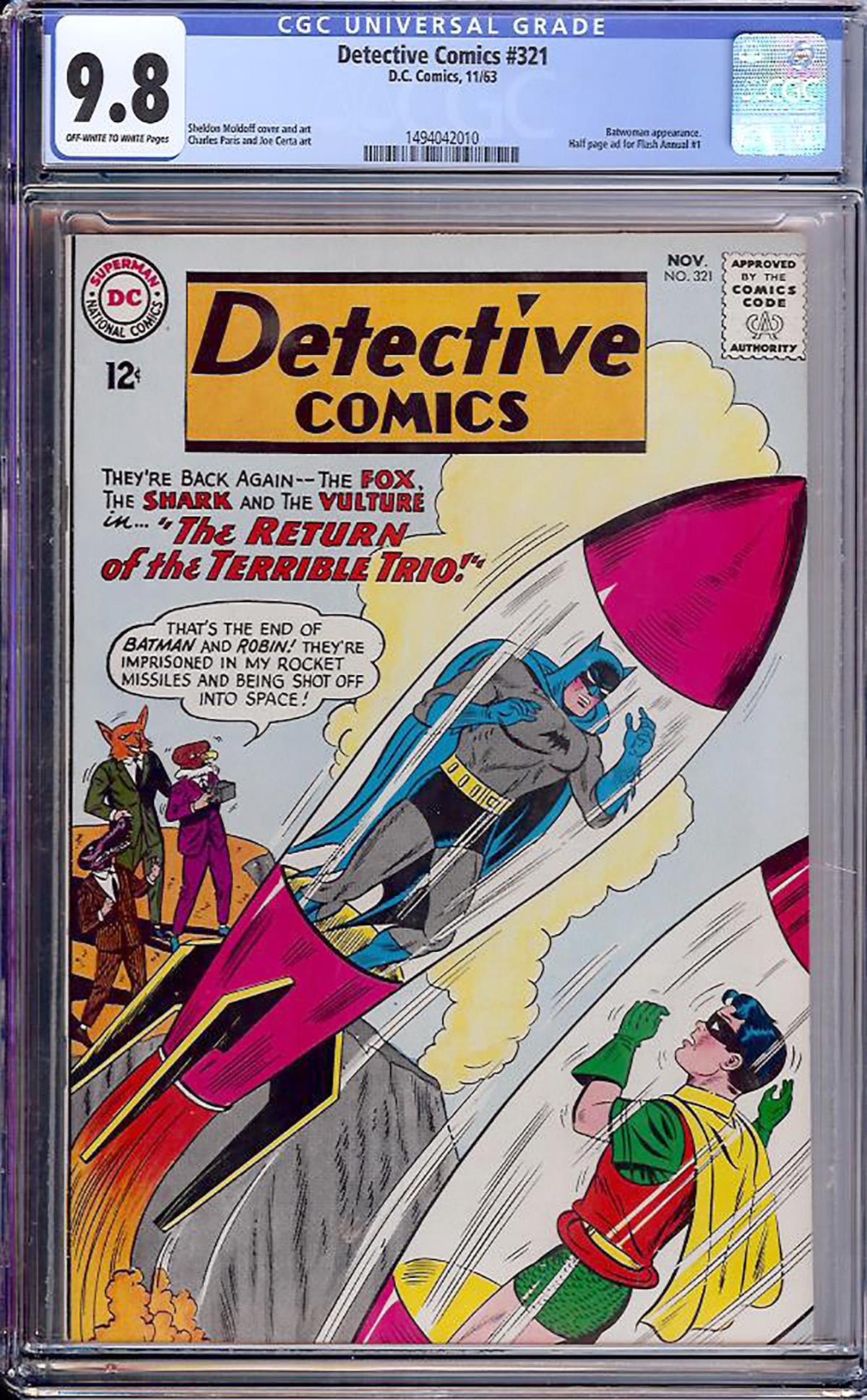Detective Comics #321 CGC 9.8 ow/w