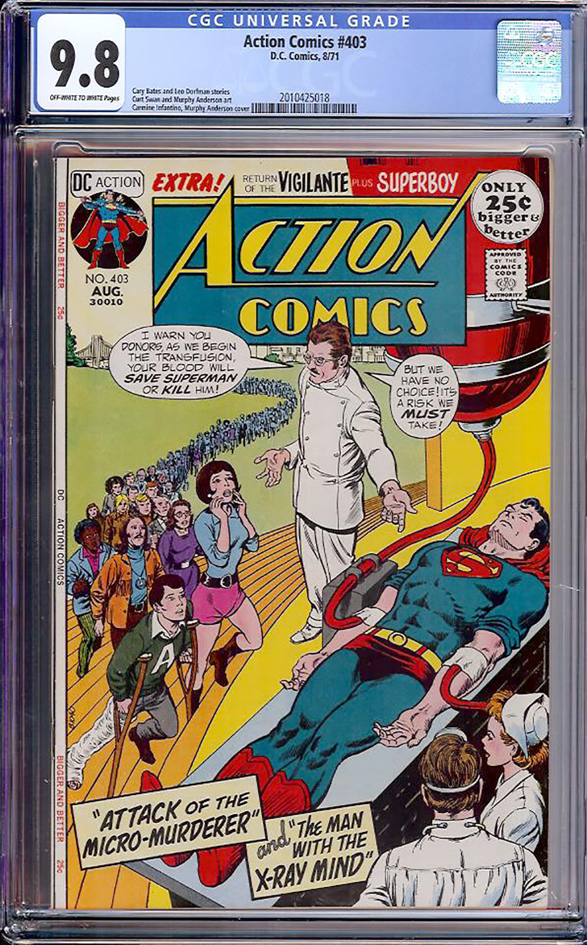 Action Comics #403 CGC 9.8 ow/w