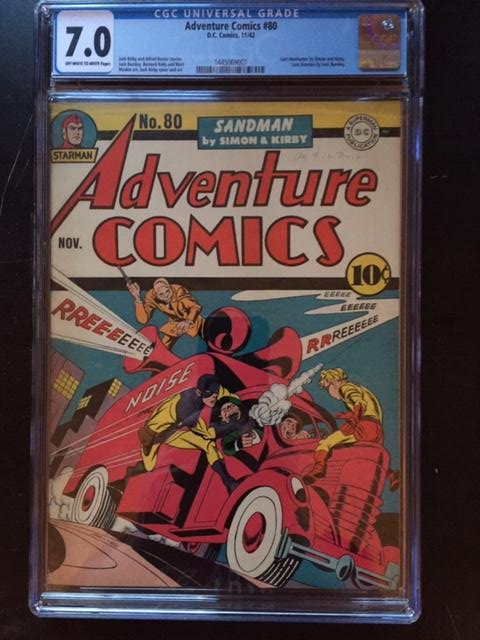Adventure Comics #80 CGC 7.0 ow/w
