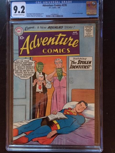 Adventure Comics #270 CGC 9.2 ow/w
