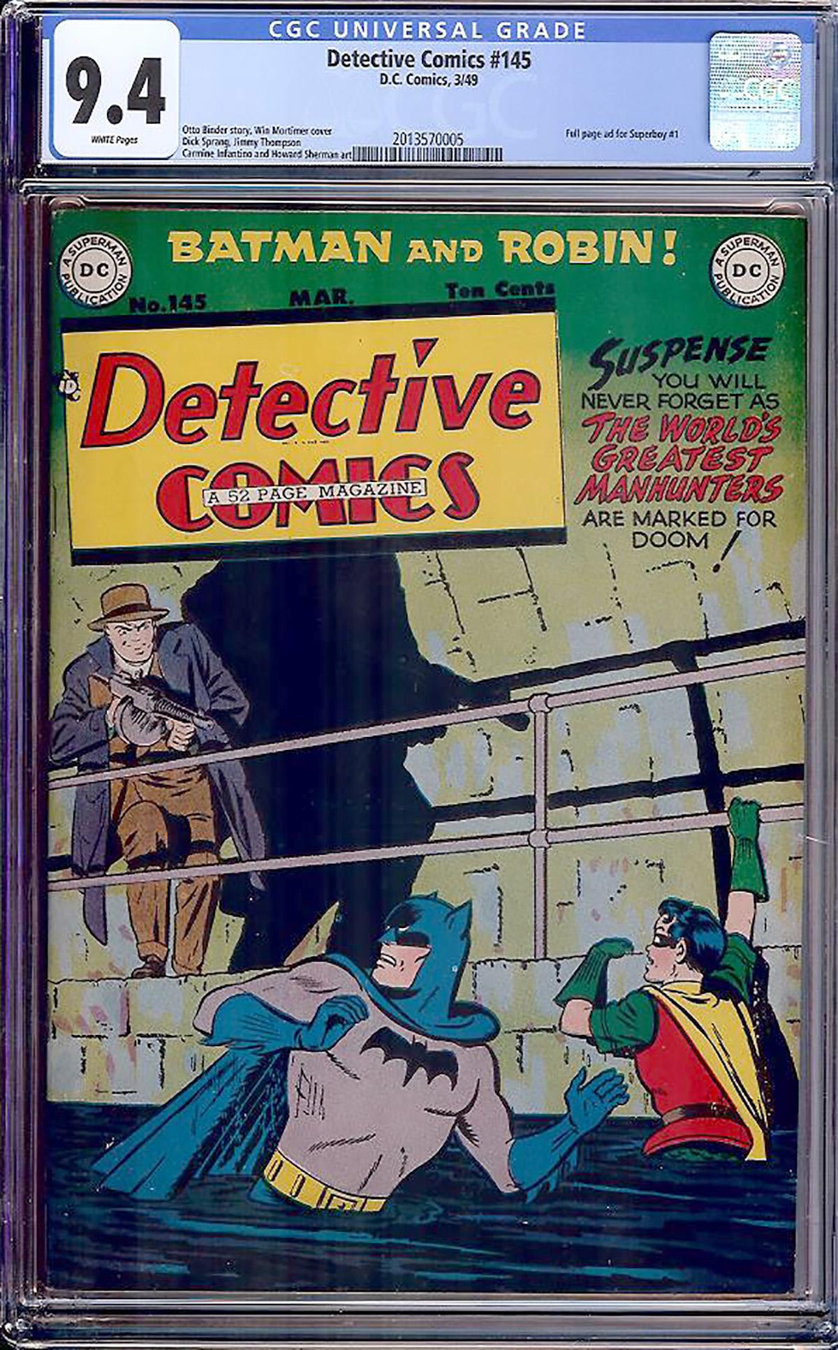 Detective Comics #145 CGC 9.4 w