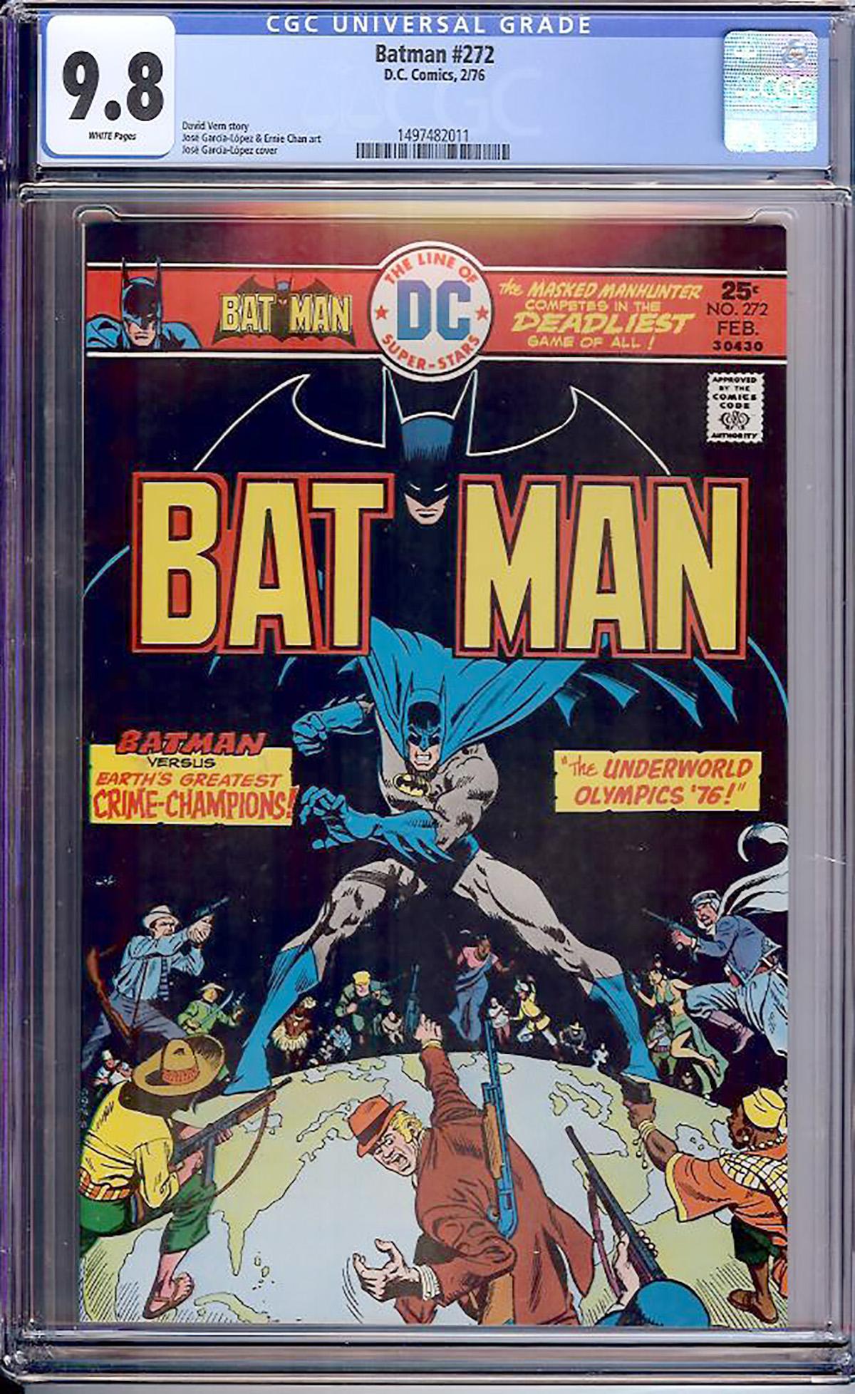 Batman #272 CGC 9.8 w