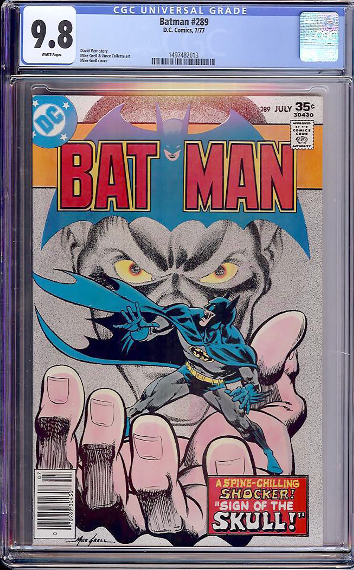 Batman #289 CGC 9.8 w