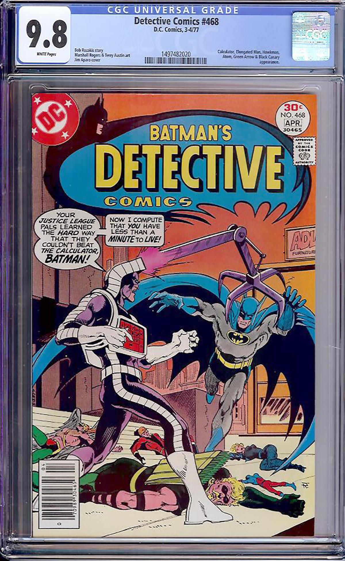 Detective Comics #468 CGC 9.8 w
