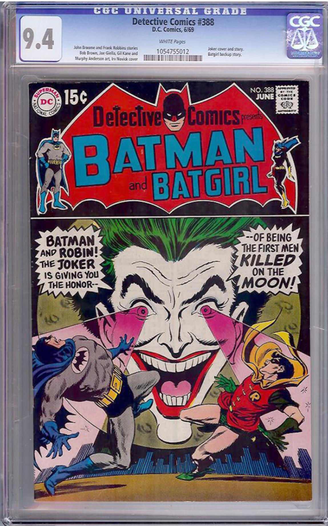 Detective Comics #388 CGC 9.4 w