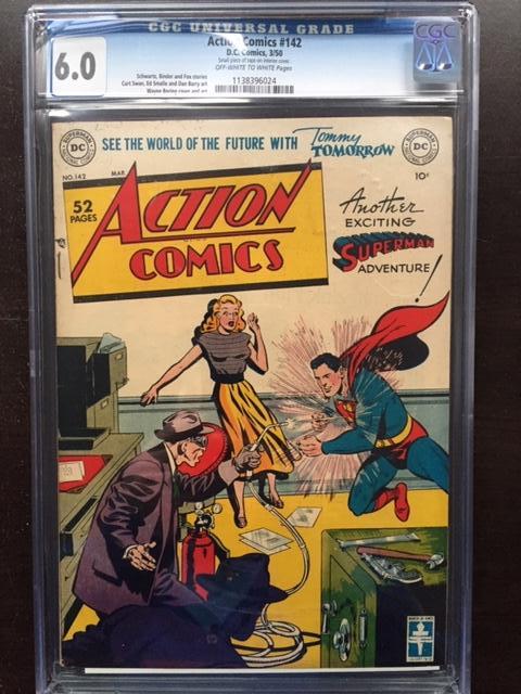 Action Comics #142 CGC 6.0 ow/w