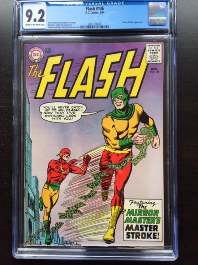 Flash #146 CGC 9.2 cr/ow