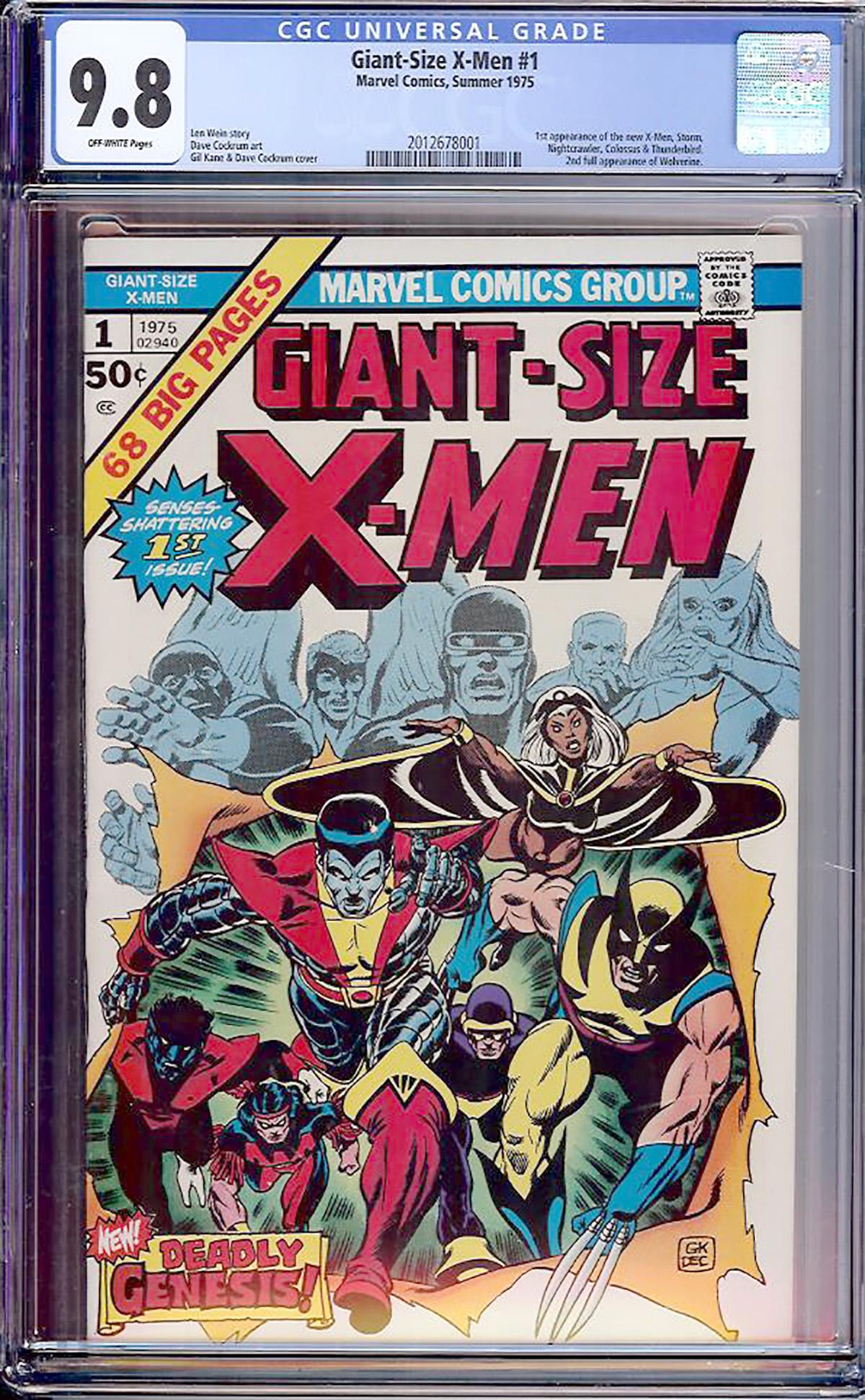 Giant-Size X-Men #1 CGC 9.8 ow