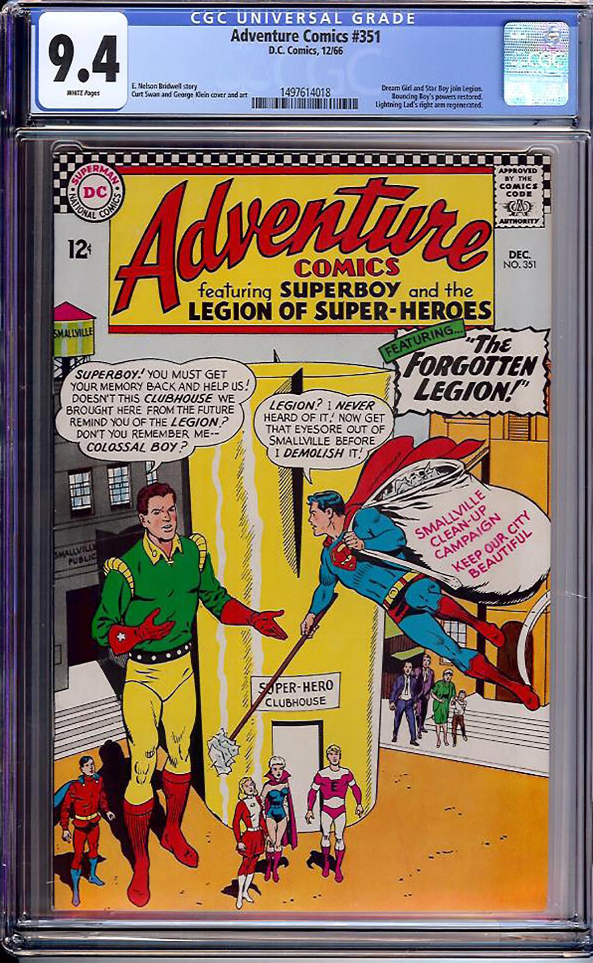 Adventure Comics #351 CGC 9.4 w