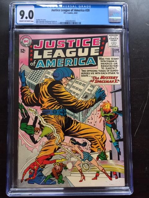 Justice League of America #20 CGC 9.0 cr/ow