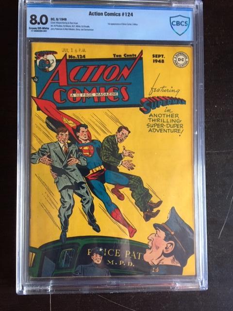 Action Comics #124 CBCS 8.0 cr/ow