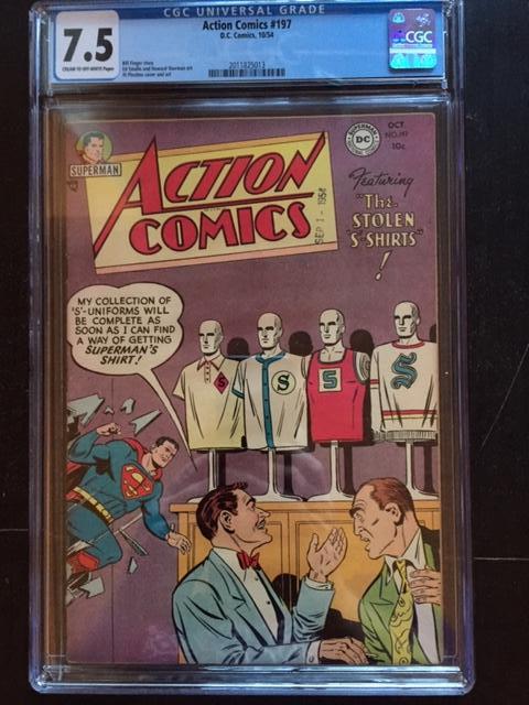 Action Comics #197 CGC 7.5 cr/ow