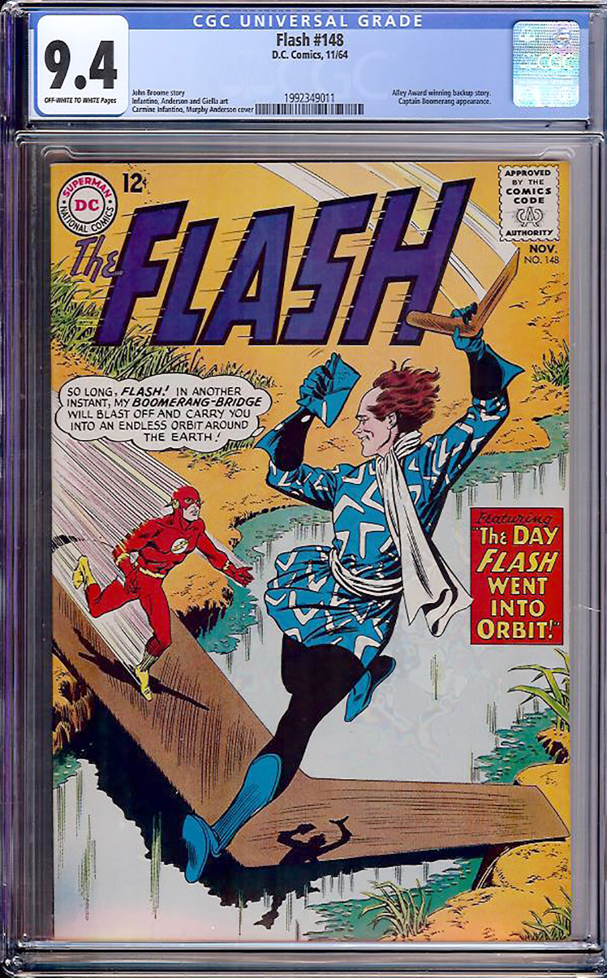 Flash #148 CGC 9.4 ow/w