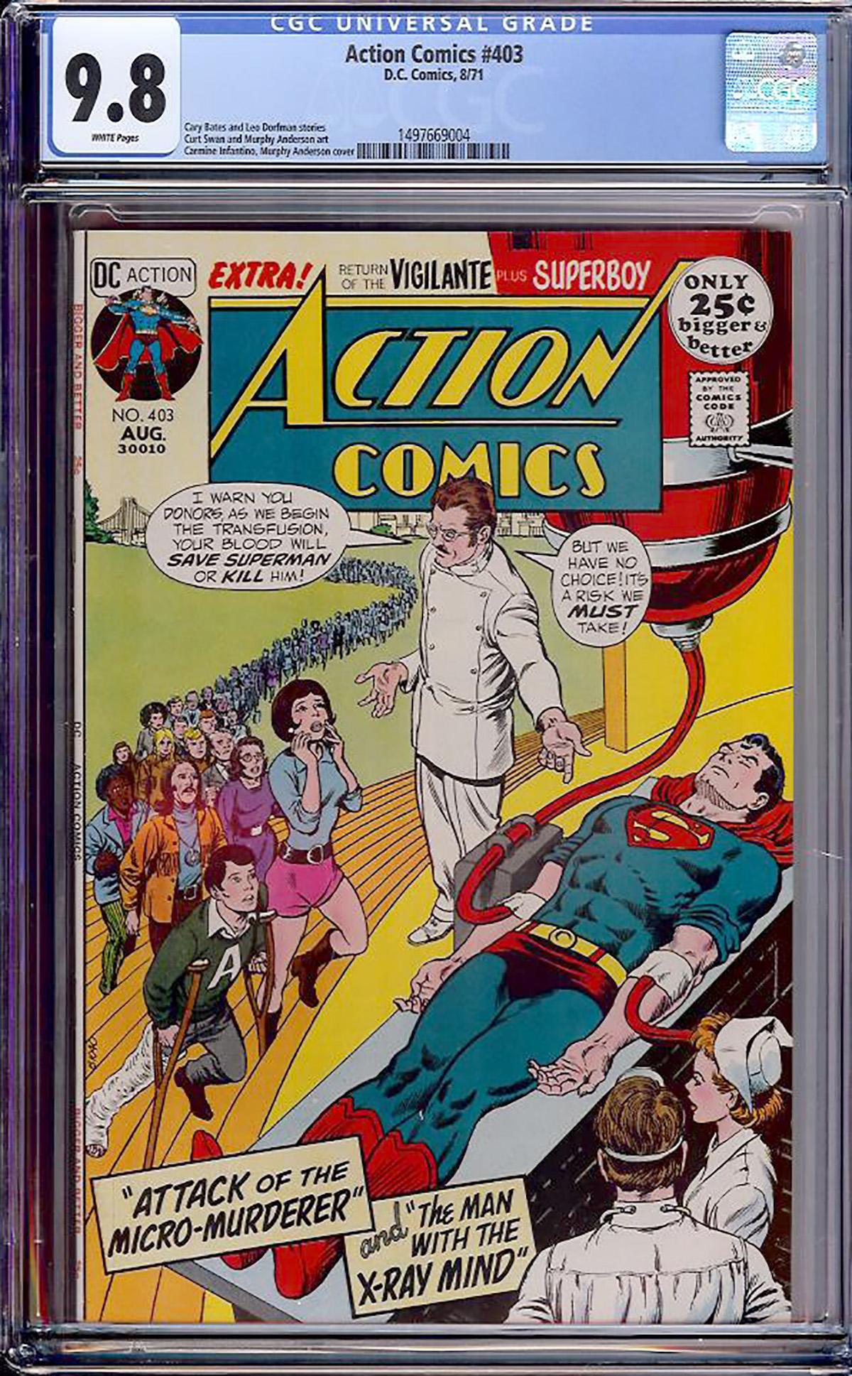 Action Comics #403 CGC 9.8 w