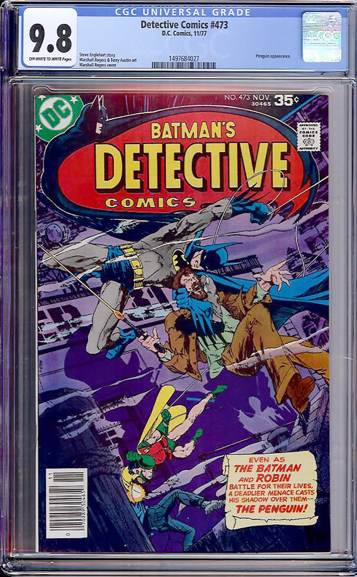 Detective Comics #473 CGC 9.8 ow/w