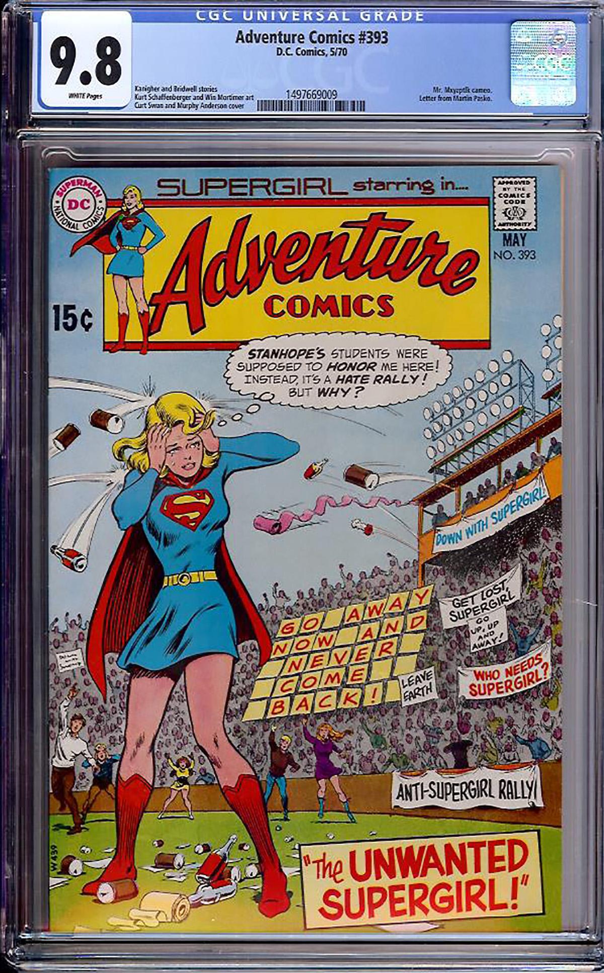 Adventure Comics #393 CGC 9.8 w