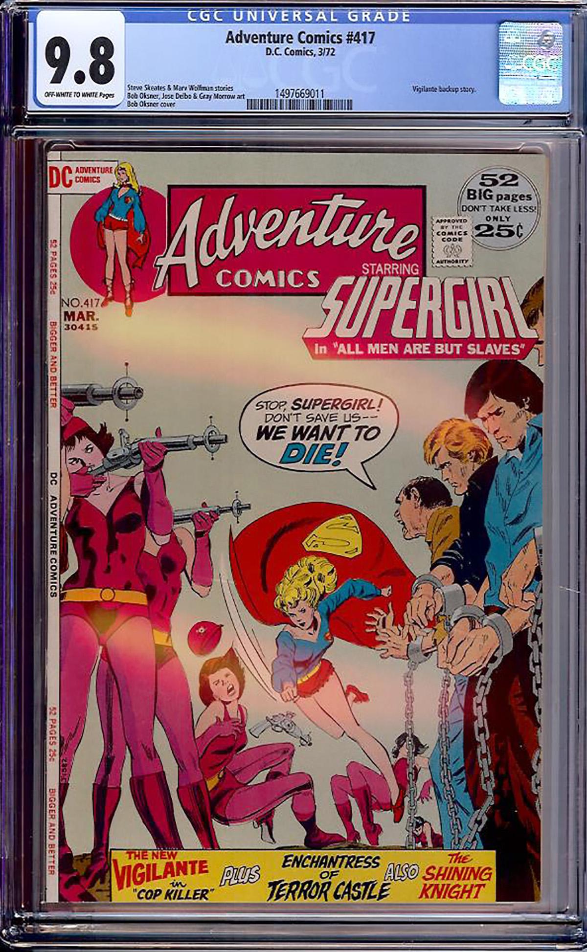 Adventure Comics #417 CGC 9.8 ow/w