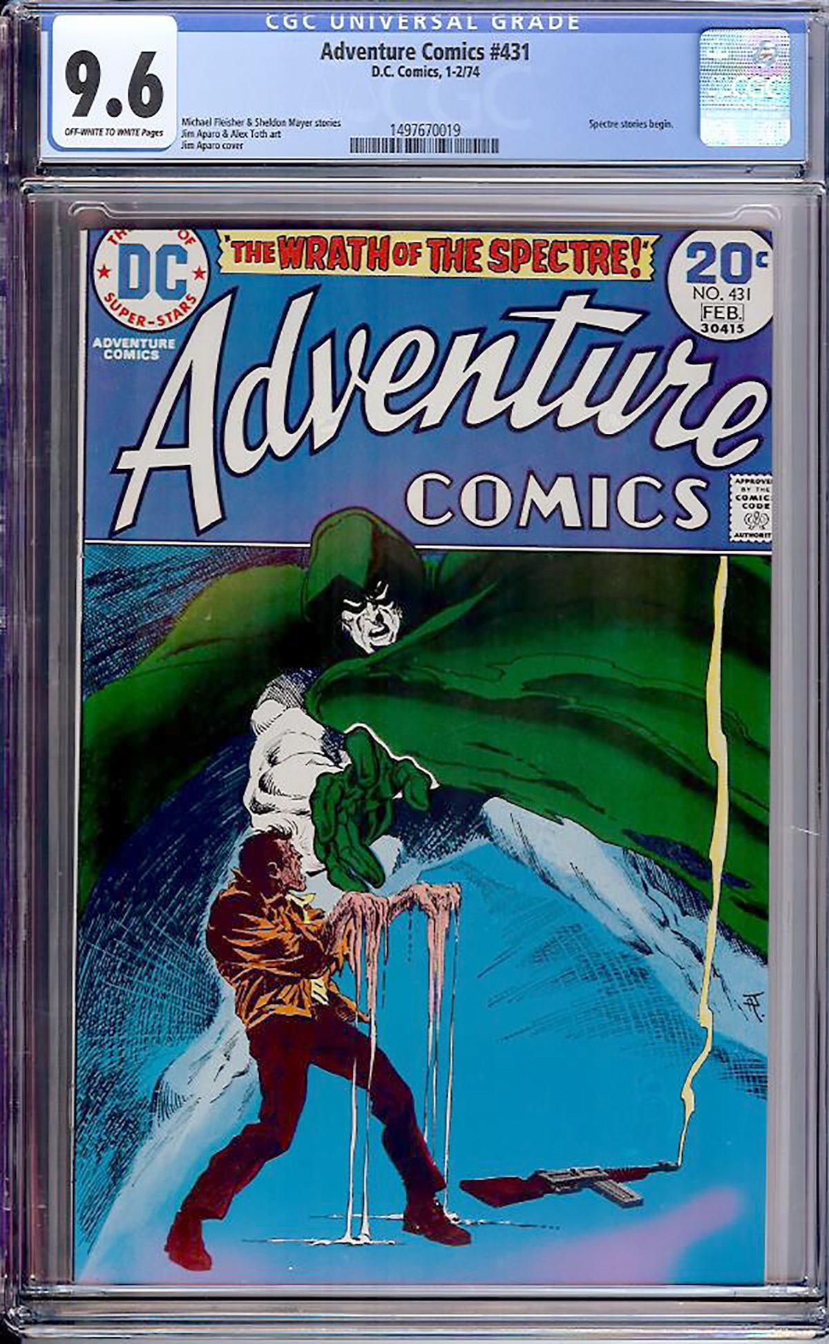 Adventure Comics #431 CGC 9.6 ow/w