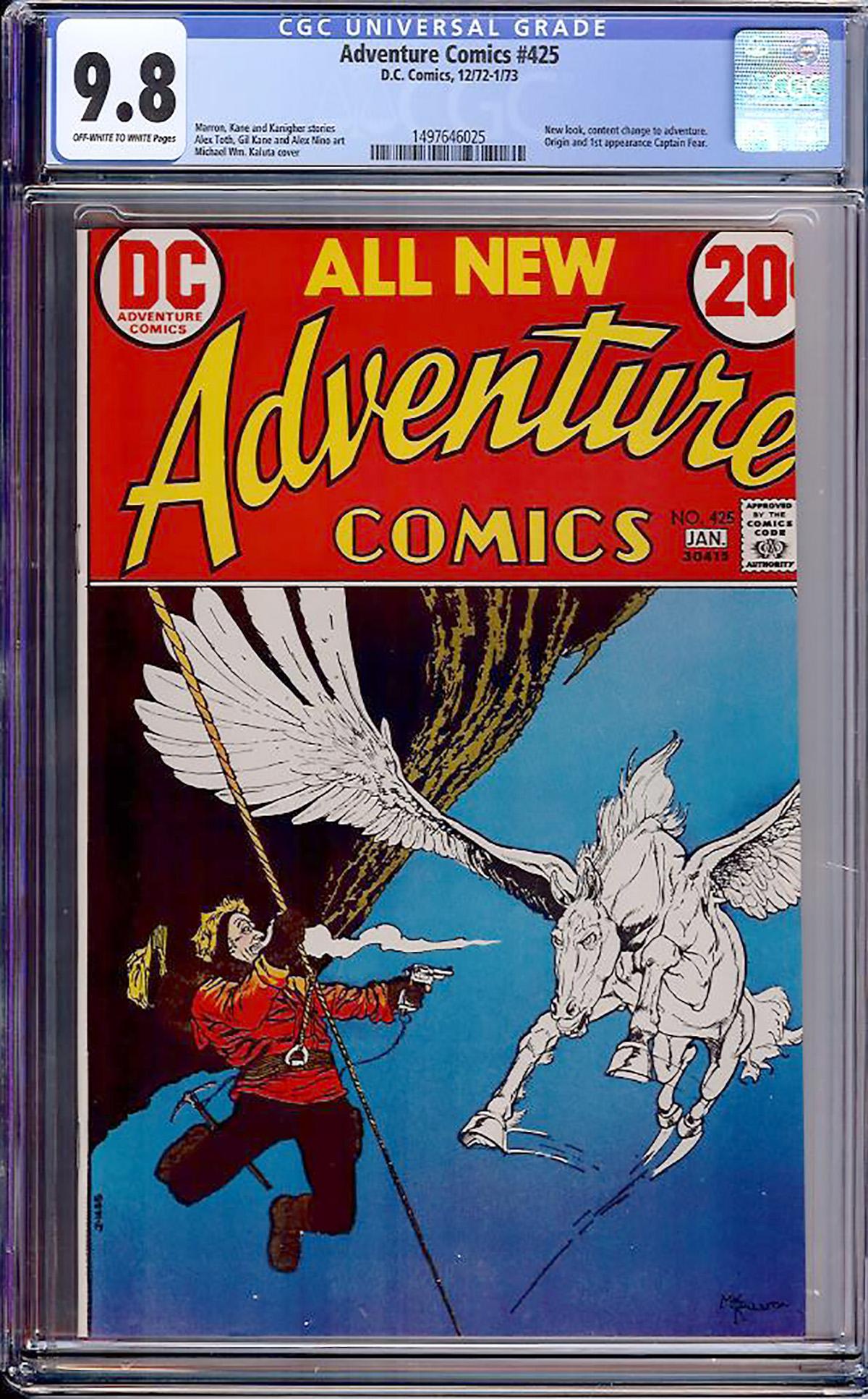 Adventure Comics #425 CGC 9.8 ow/w
