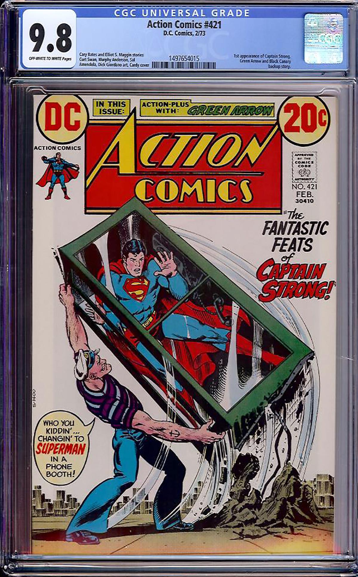 Action Comics #421 CGC 9.8 ow/w