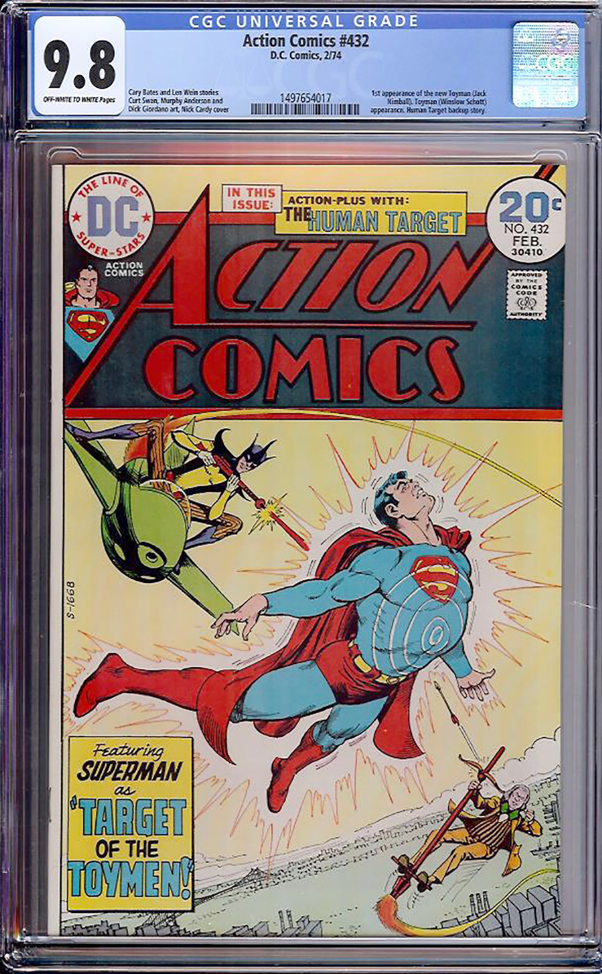 Action Comics #432 CGC 9.8 ow/w