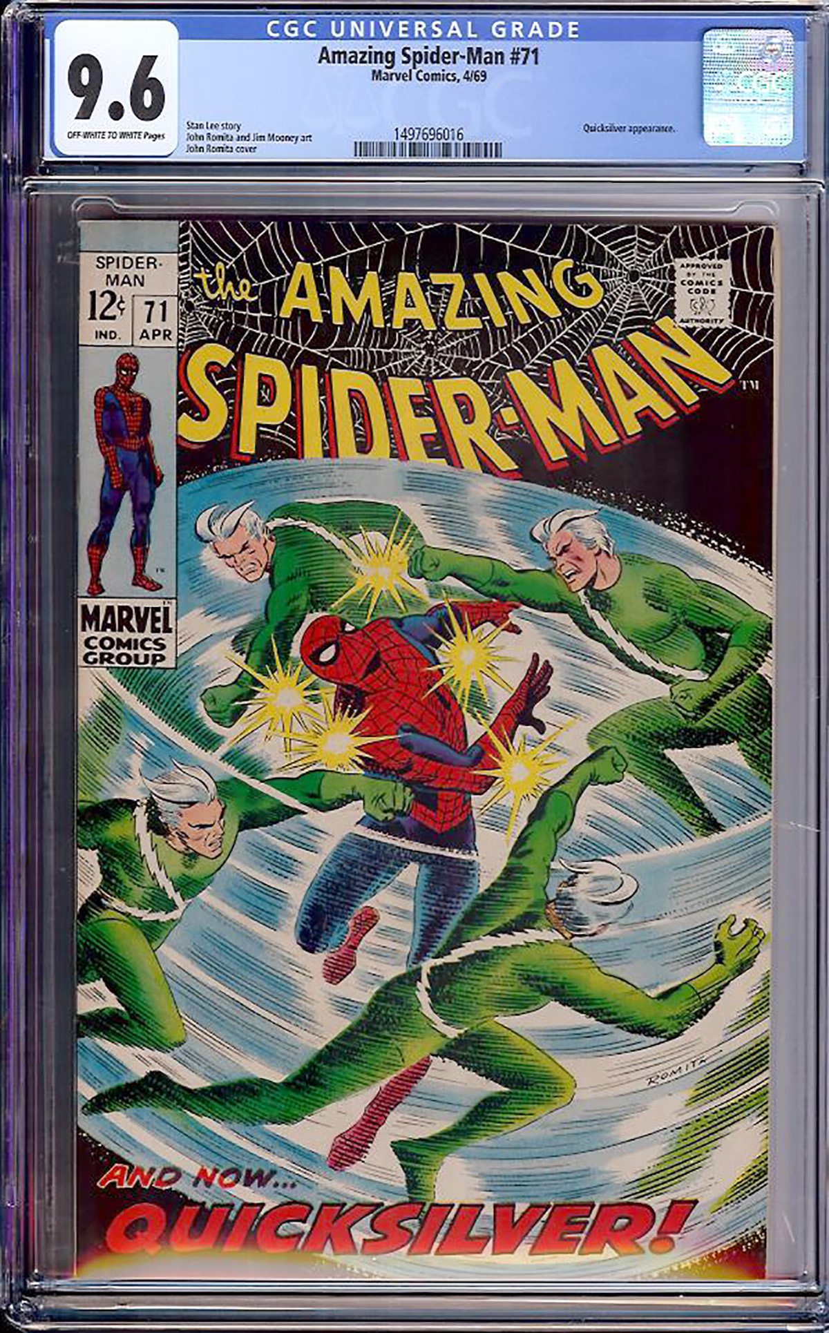 Amazing Spider-Man #71 CGC 9.6 ow/w