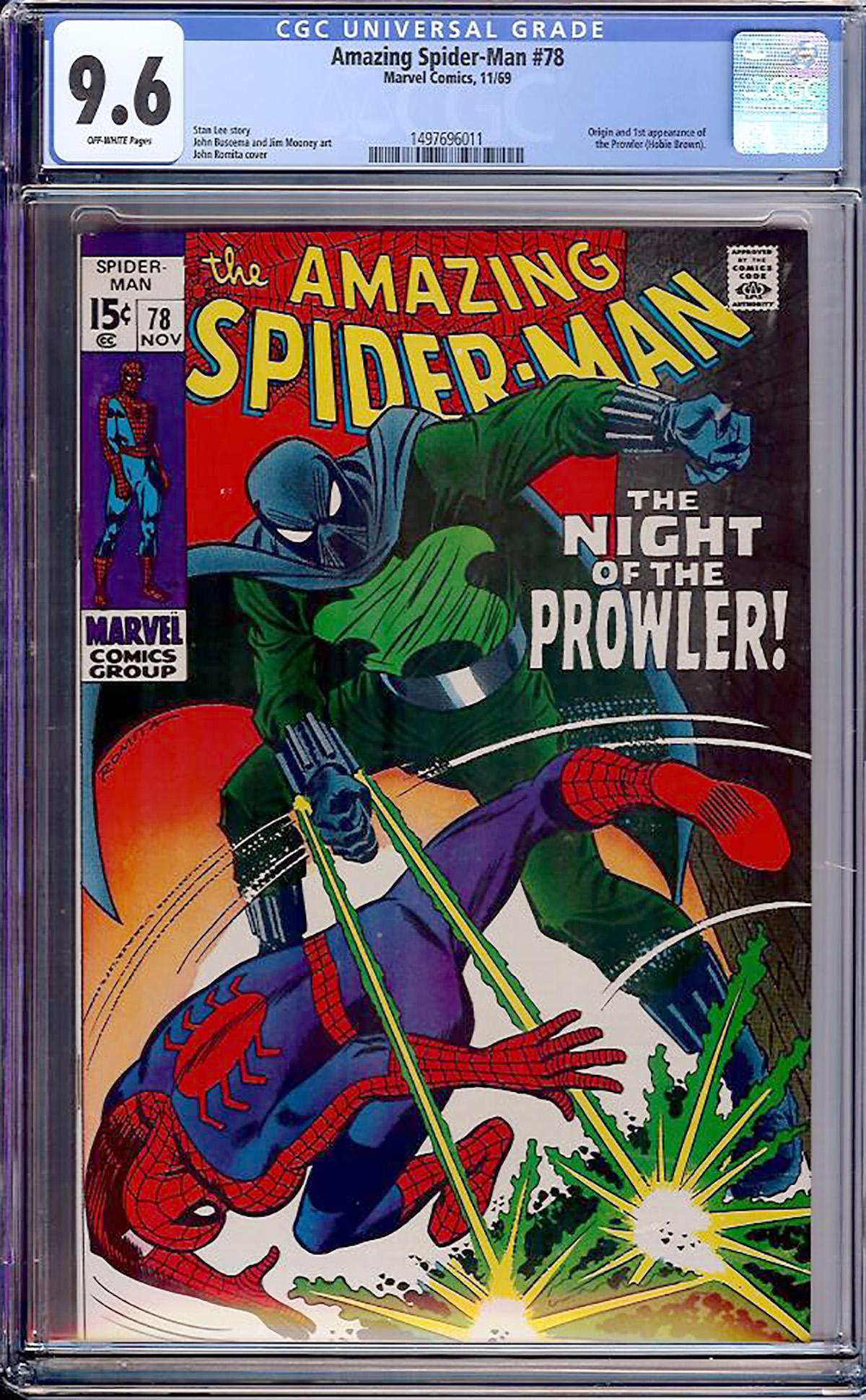 Amazing Spider-Man #78 CGC 9.6 ow