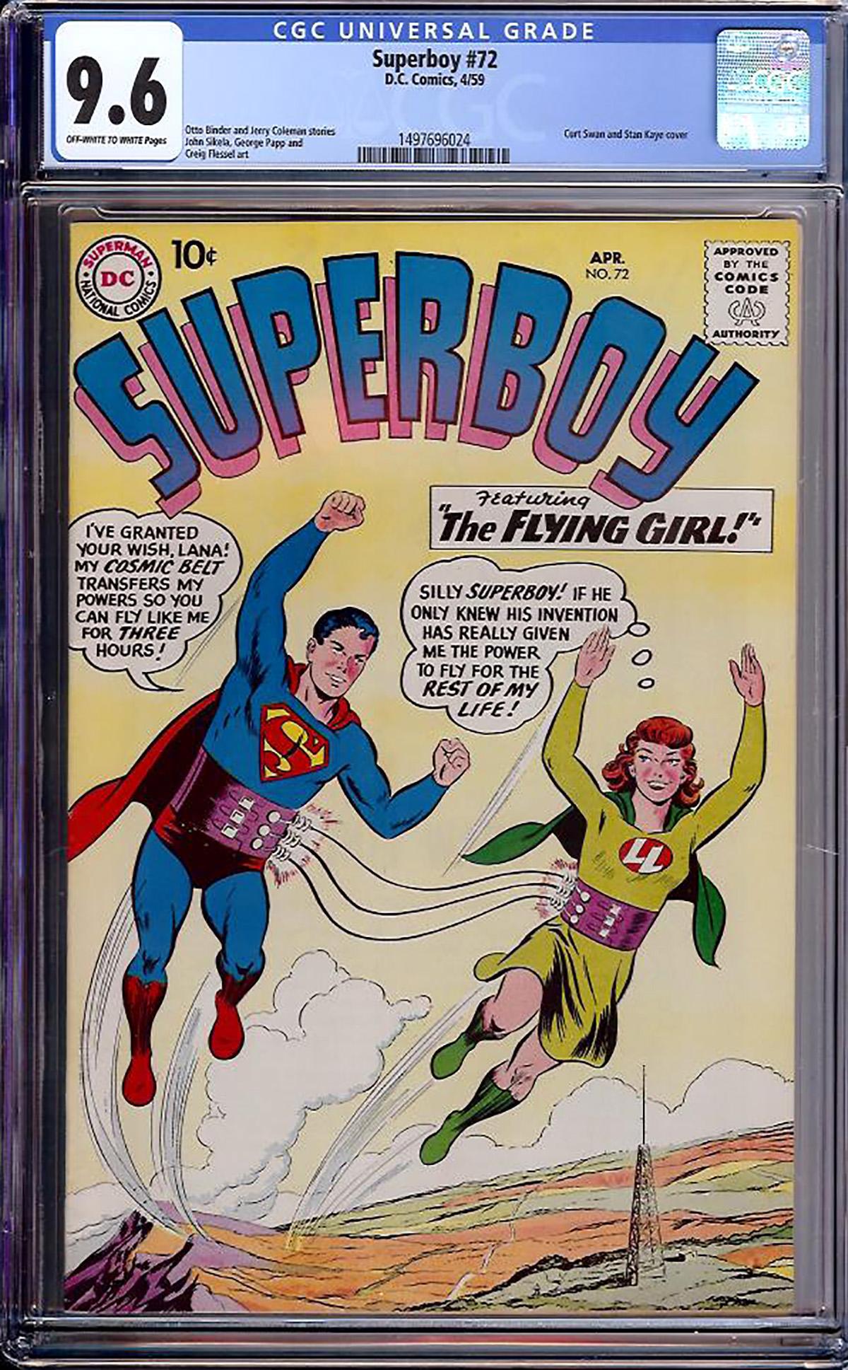 Superboy #72 CGC 9.6 ow/w