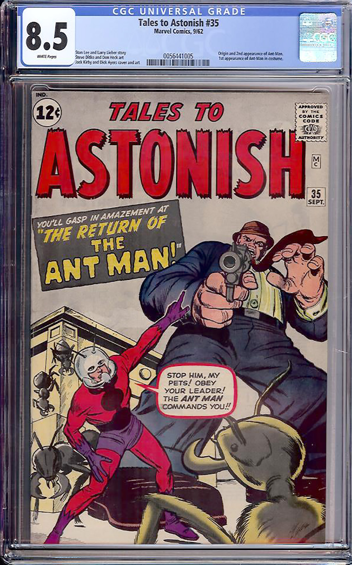 Tales to Astonish #35 CGC 8.5 w