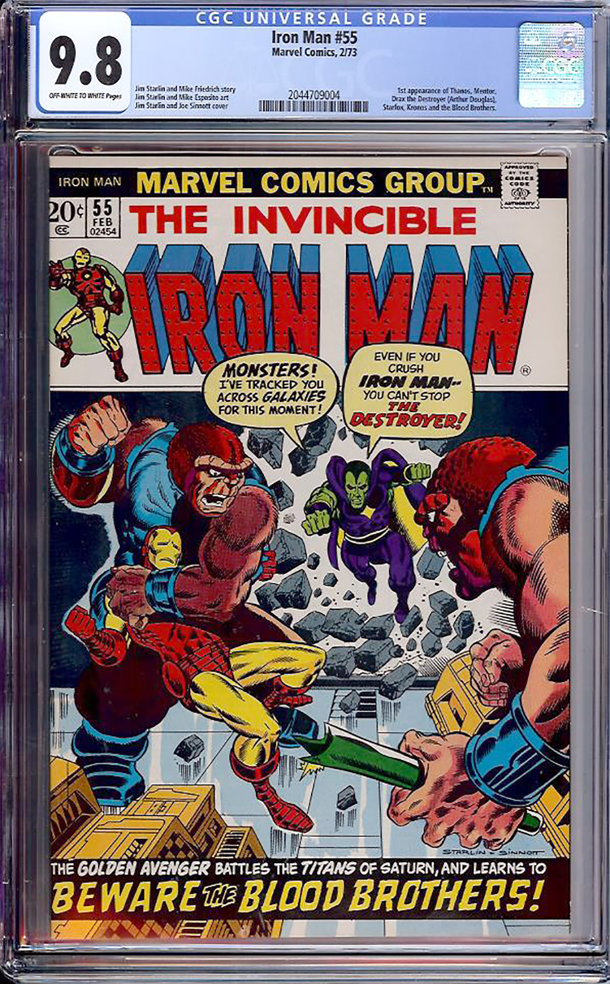 Iron Man #55 CGC 9.8 ow/w
