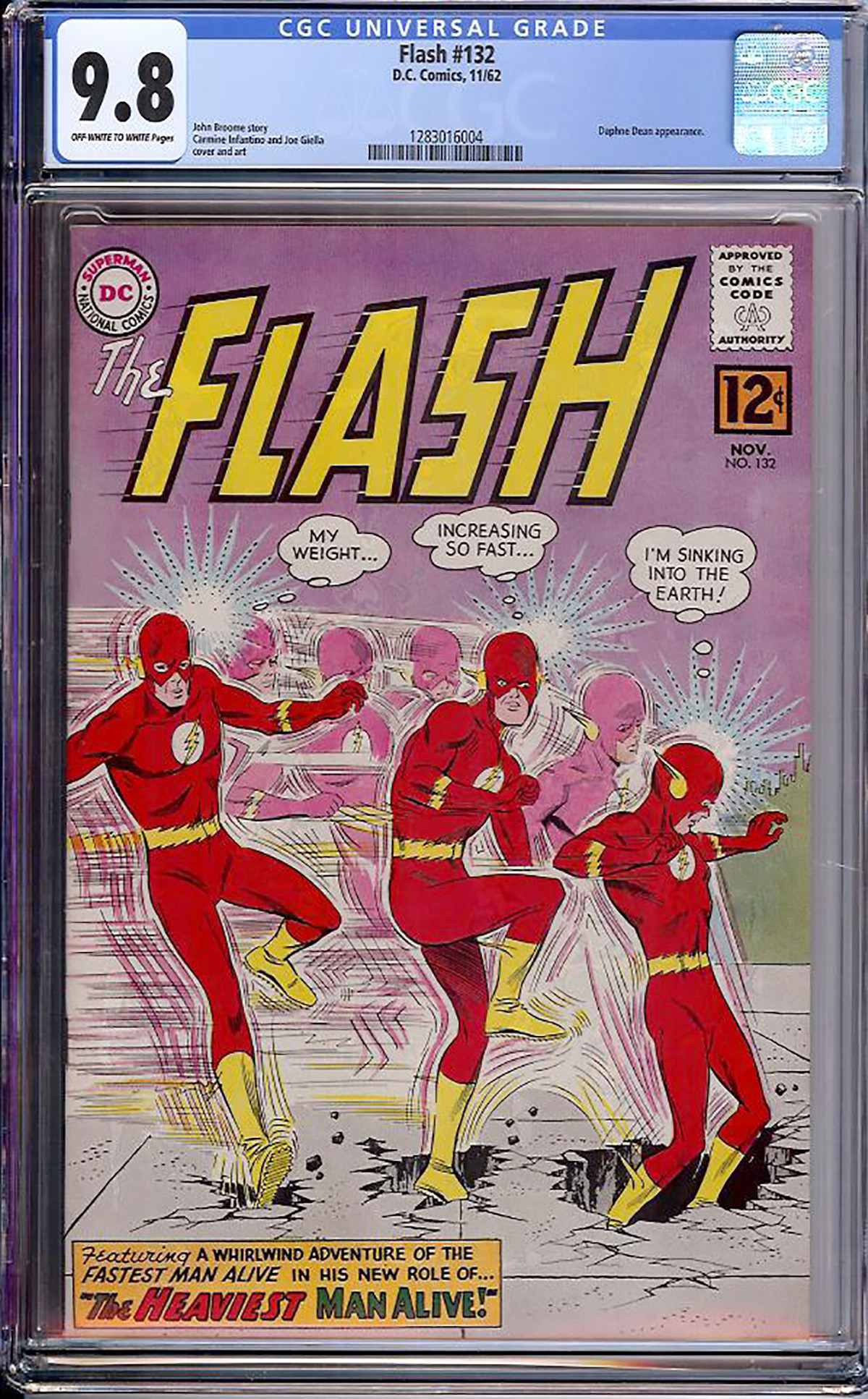 Flash #132 CGC 9.8 ow/w