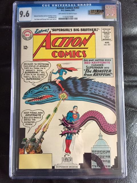 Action Comics #303 CGC 9.6 ow/w