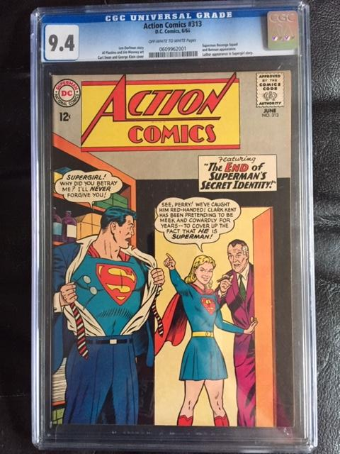 Action Comics #313 CGC 9.4 ow/w