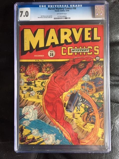 Marvel Mystery Comics #38 CGC 7.0 ow