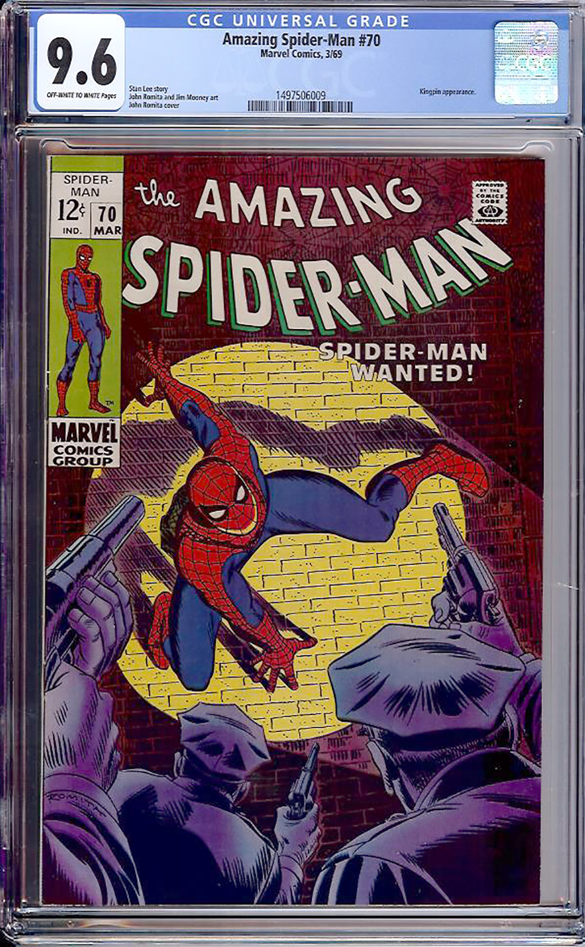 Amazing Spider-Man #70 CGC 9.6 ow/w