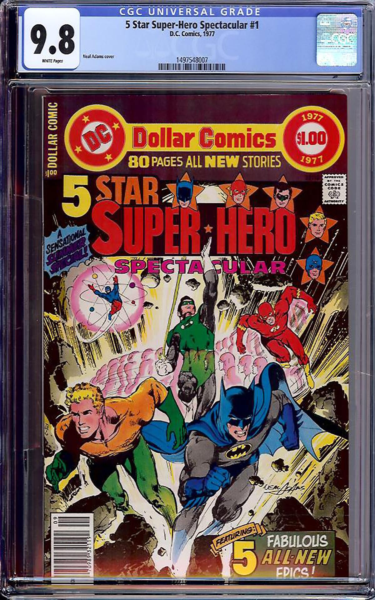 5 Star Super-Hero Spectacular #1 CGC 9.8 w