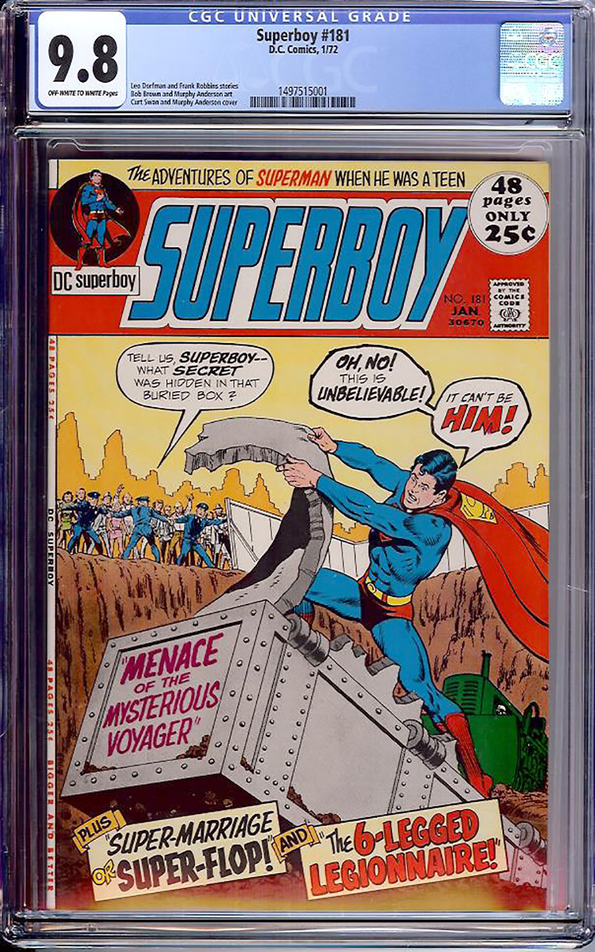 Superboy #181 CGC 9.8 ow/w