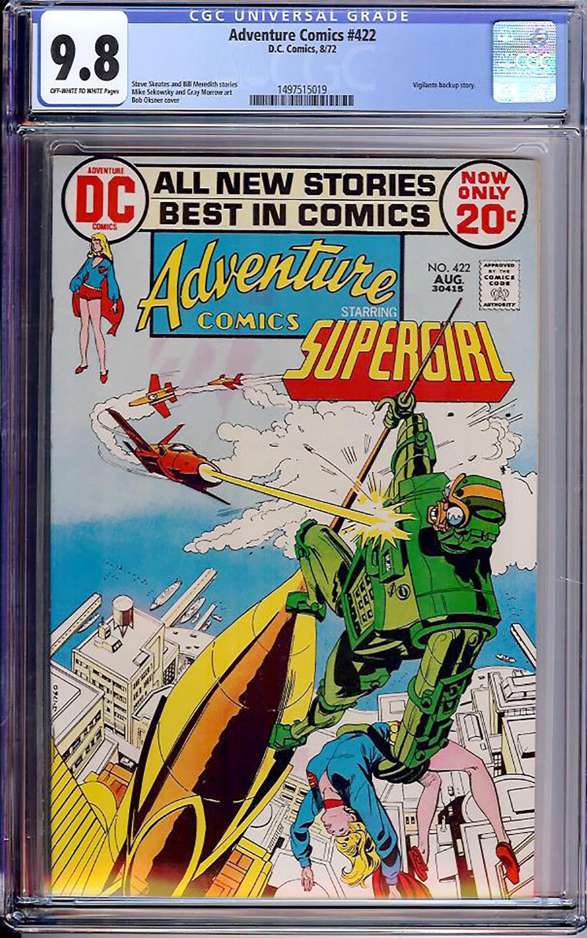 Adventure Comics #422 CGC 9.8 ow/w