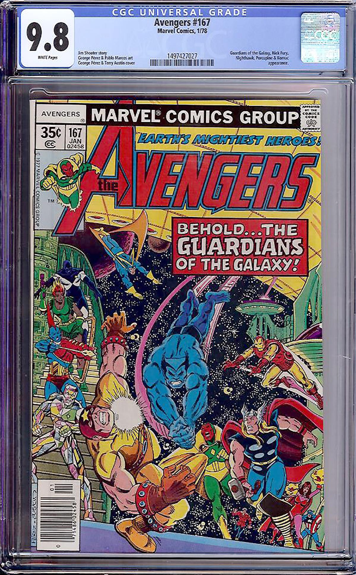 Avengers #167 CGC 9.8 w