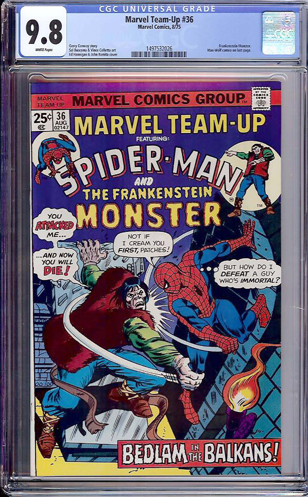 Marvel Team-Up #36 CGC 9.8 w