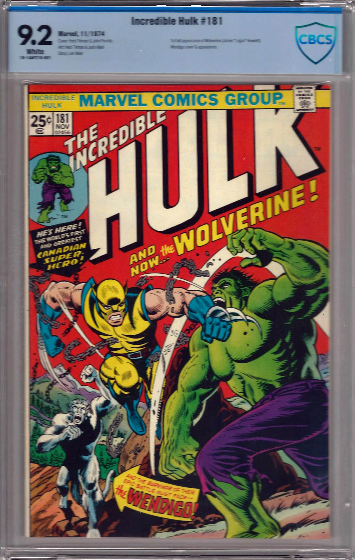 Incredible Hulk #181 CBCS 9.2 w