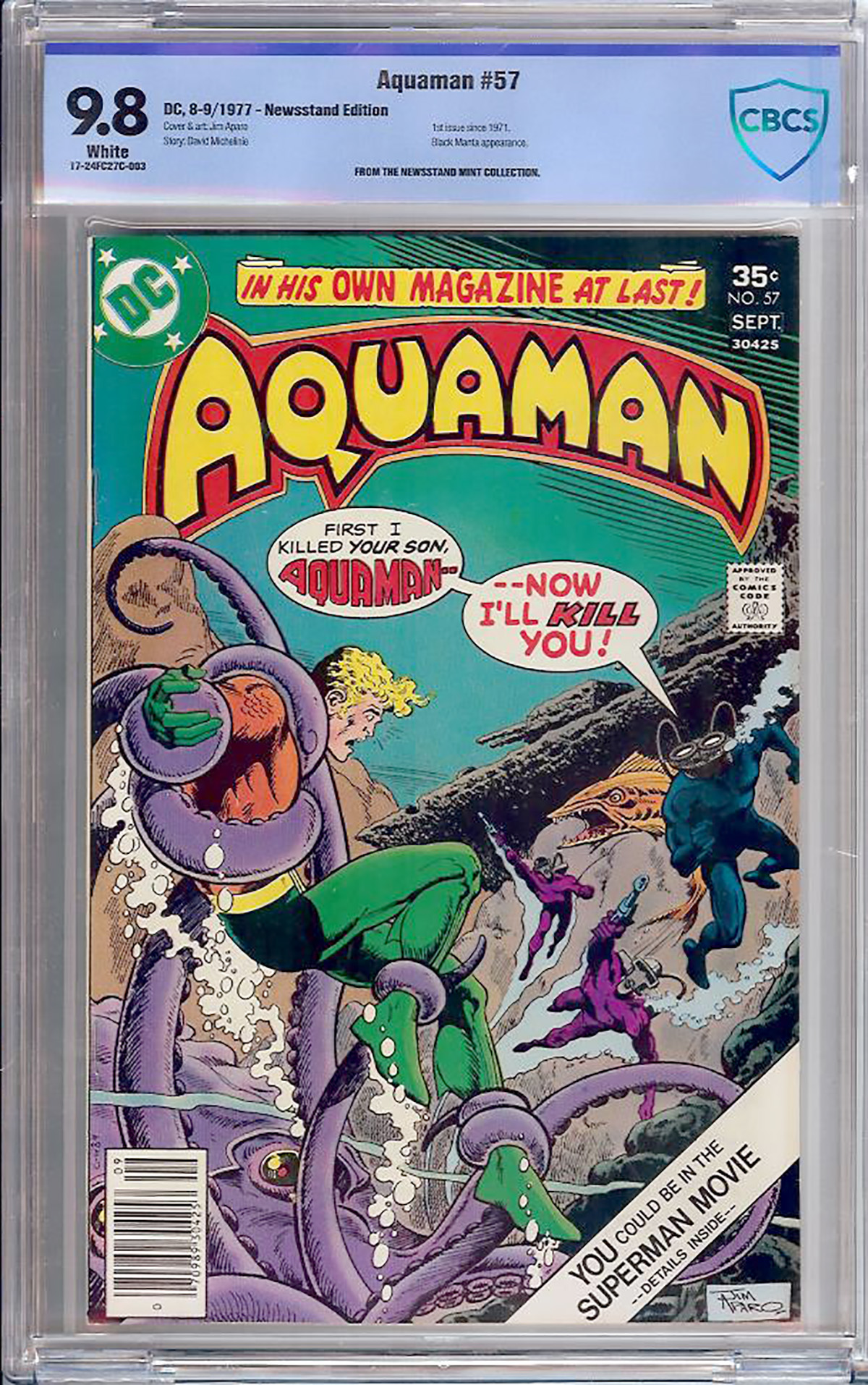 Aquaman #57 CBCS 9.8 w Newsstand Mint Collection